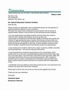 Professional Cover Letter Examples Special Education Cover Letter Sample