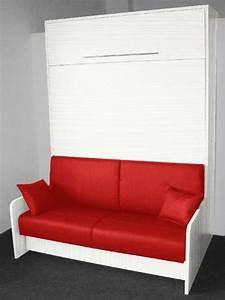 l39 armoire lit escamotable pour plus d39espace archzinefr With tapis d entrée avec canape lit 160 cm