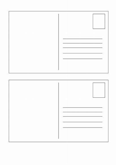 Postcard Template Blank Word Microsoft Clipart Transparent