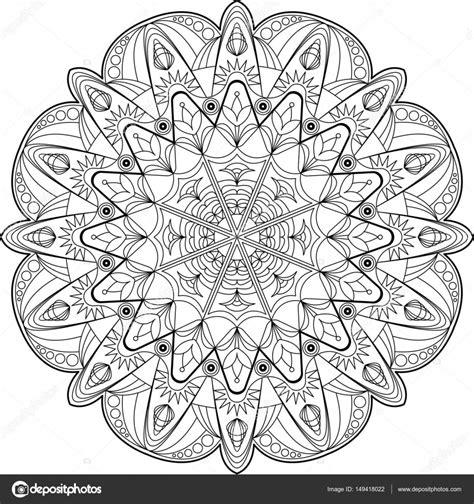 Cirkel Kleurplaten Volwassenen cirkel mandala volwassen kleurplaat stockvector