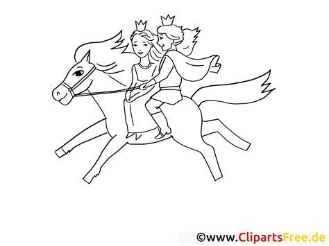 prinz und prinzessin reiten auf pferd ausmalbilder maerchen  ausmalbilder pferde mit reiter