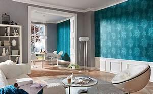 tapeten furs wohnzimmer bei hornbach With markise balkon mit wandgestaltung tapete wohnzimmer