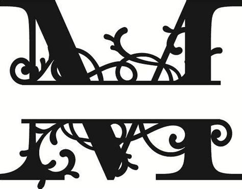 flourished split monogram  letter amee house monogram template  monogram monogram