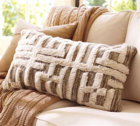pottery barn throw pillows kendi knotted lumbar pillow cover contemporary