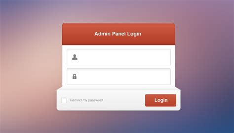 Free Admin Panel Login Psd Files, Vectors & Graphics