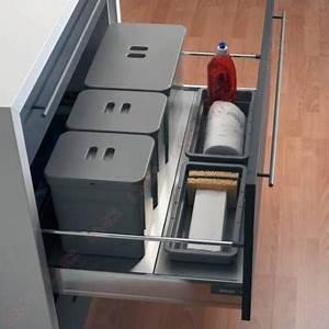 Meuble Poubelle Cuisine : poubelle pour tiroir poubelles tiroirs coulissantes ~ Dallasstarsshop.com Idées de Décoration