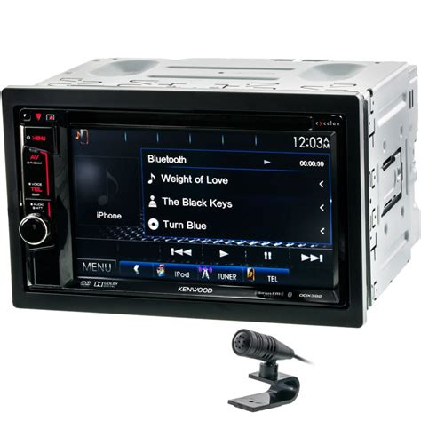 kenwood doppel din kenwood excelon ddx392 din 6 2 quot in dash dvd cd am fm receiver with bluetooth and sirius