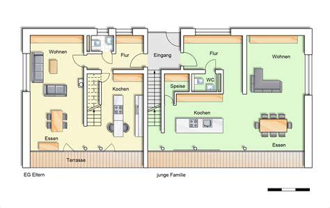 Mehrgenerationenhaus Modern Grundriss