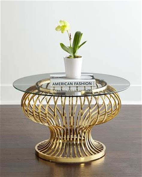 tiered gold legs glass coffee table
