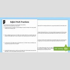 Fractions Word Problems Differentiated Worksheet Activity