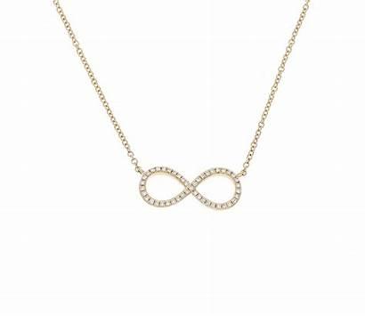 Necklace Diamond Gold Infinity 14ct Yellow Lightbox