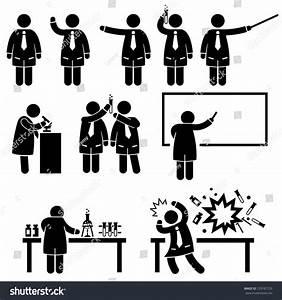 Scientist Professor Science Lab Teaching Writing Stock ...