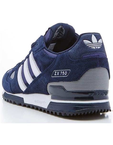 adidas zx 750 blue white adidas originals zx 750 mens running trainers navy blue
