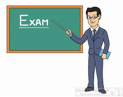 Teacher Clipart Exam Pointing Chalkboard Point Written