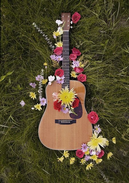 images  guitar  flowers  pinterest