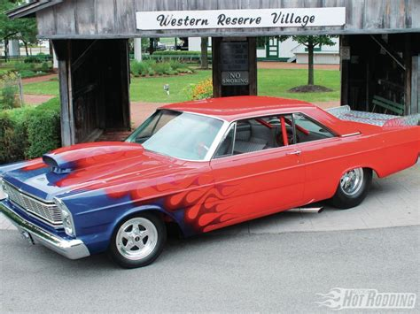 ford galaxie  drag racing hot rods muscle car race