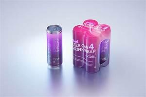 4, Shrink, Wrap, Packaging, For, Sleek, Soda, Can, 355ml, Premium, Packaging, 3d, Model, Wa, Design, Studio