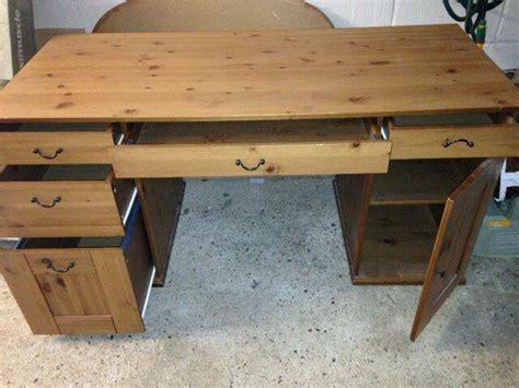 Ikea Schreibtisch Kiefer by Ikea Alve Humnes Leksvik Pine Wood Large Desk In