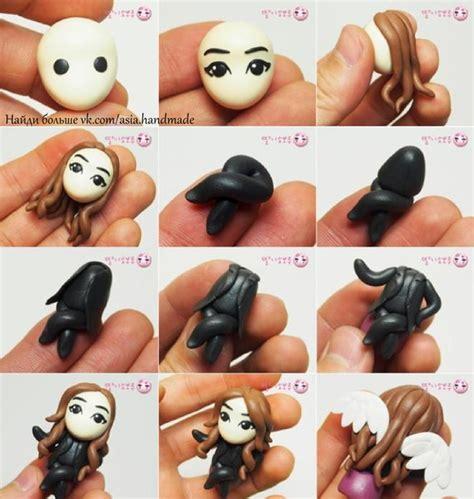 comment faire des figurines en pate a sucre tuto fimo petits anges 224 cr 233 er en p 226 te polym 232 re bijoux sucr 233 s