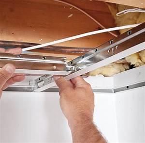 Installer Faux Plafond : installation de plafond suspendu maison travaux ~ Melissatoandfro.com Idées de Décoration