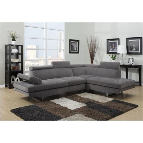 canapé design d angle canapé d 39 angle design tissu rubic gris achat vente