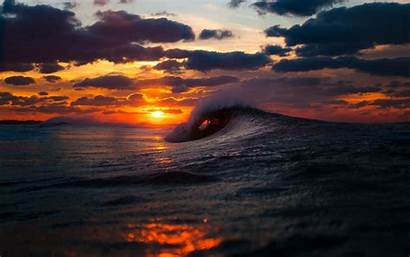Wave Sunset Perfect Ocean Wallpapers