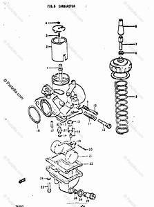Suzuki Motorcycle 1971 Oem Parts Diagram For Carburetor