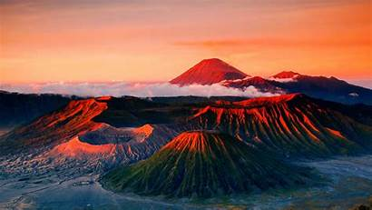 Indonesia Wallpapers Background Volcano Bromo Java Gunung