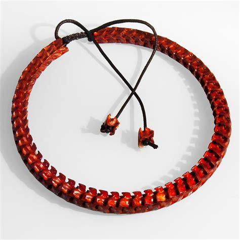 Real Chain Viper Snake Bone Bracelet / Necklace Skull