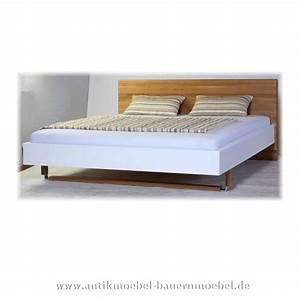 Modernes Bett 180x200 : bett doppelbett 180x200 modernes design eiche massivholz lackiert ~ Watch28wear.com Haus und Dekorationen