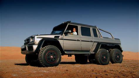 mercedes jeep 6 wheels richard hammond tests a 6x6 suv in abu dhabi top gear
