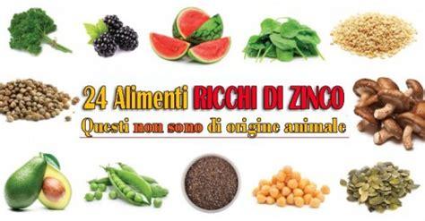 alimenti ricchi  zinco  origine vegetale  alimenti