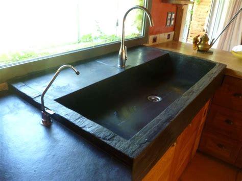 evier cuisine taille ardoise cuisine plan de travail en ardoise sur mesure