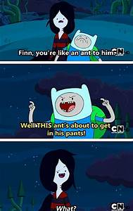 Adventure Time Finn and marcaline talking about marcalines ...