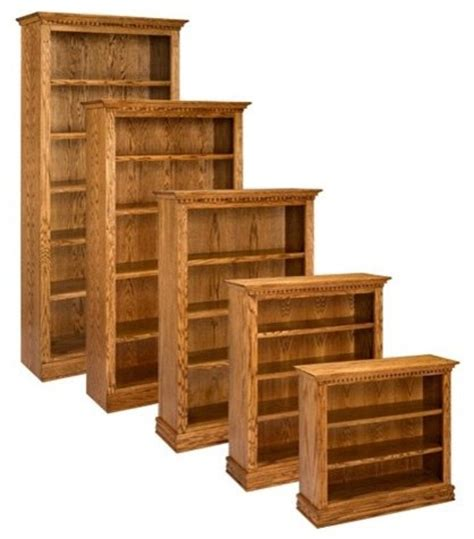 Solid Hardwood Bookcases by A E Solid Oak Britania Wood Bookcase Multicolor