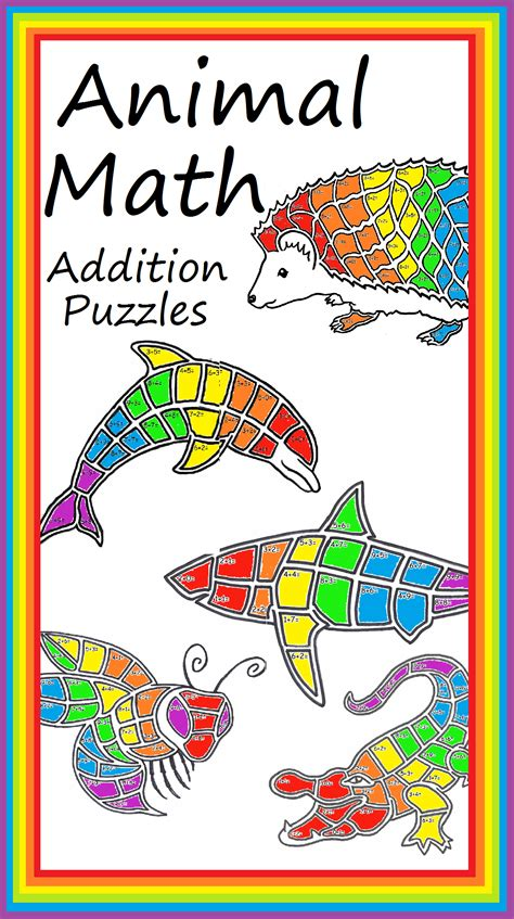 dolphin math addition page mascot worksheet stem steam