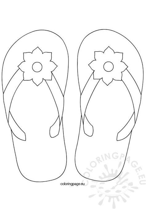 flower flip flop coloring page