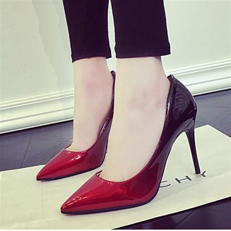 jual shh556 wine sepatu heels wanita cantik 11cm