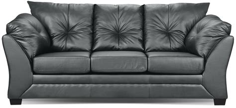The Brick Leather Sofa by Max Faux Leather Sofa Grey The Brick