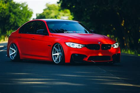 Wallpaper Bmw M3 F80 Stancenation Red Cars