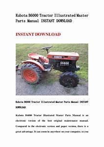 Kubota B6000 Tractor Illustrated Master Parts Manual