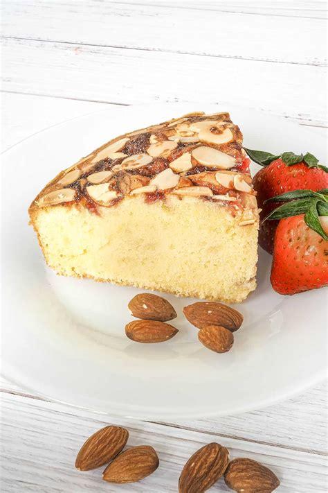 almond strawberry cake  perfect tea time treat decorated treats