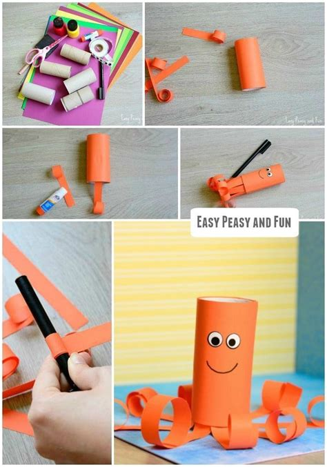 toilet paper roll octopus craft octopus crafts paper