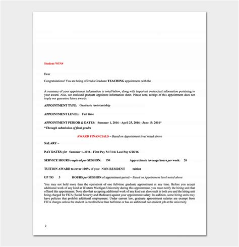 appointment letter 12 sample letters amp formats 634 | Teacher Job Appointment Letter Template PDF