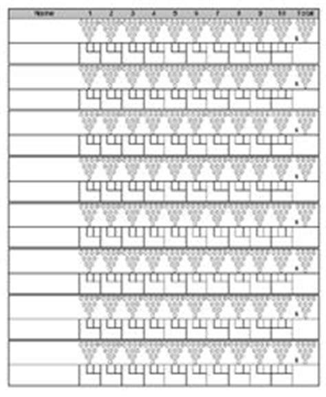 bowling score sheet  space   track