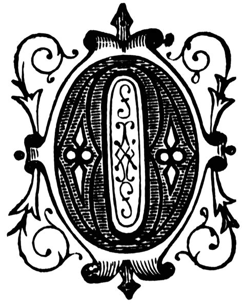 O, Ornamental letter | ClipArt ETC