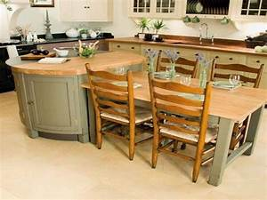 kitchen island with table attached - TjiHome