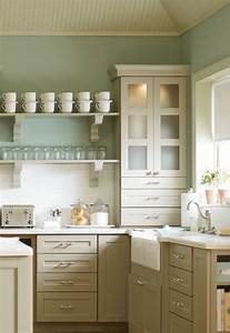 martha stewart kitchen cabinets cottage kitchen With kitchen colors with white cabinets with peace symbol wall art