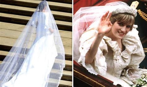 Meghan Markle Wedding Dress Vs Princess Diana In Pictures