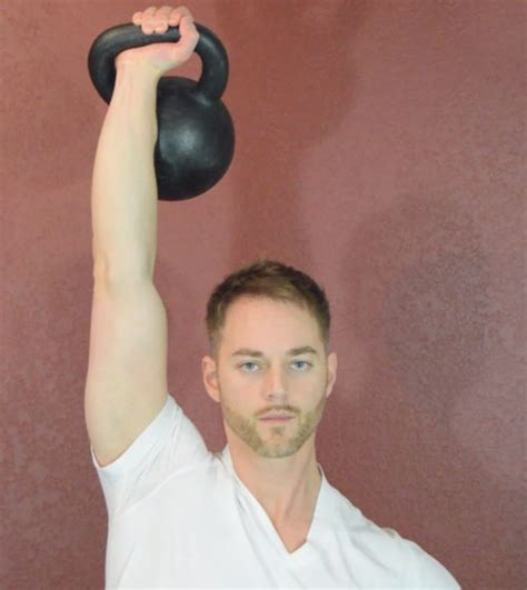 press military kettlebell front